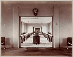 Crime, Prisons: United States. New York. Hart's Island. Branch Workhouse: Department of Correction, New York City: Branch Workhouse, Hart's Island.: Interior of Female Pavilion..   Social Museum Collection