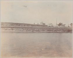 Crime, Prisons: United States. New York. Riker's Island. Branch Workhouse: Department of Correction, New York City: Branch Workhouse, Riker's Island.: Sea-wall around Riker's Island..   Social Museum Collection