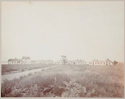 Crime, Prisons: United States. New York. Riker's Island. Branch Workhouse: Department of Correction, New York City: Branch Workhouse, Riker's Island.: General view of quarters..   Social Museum Collection