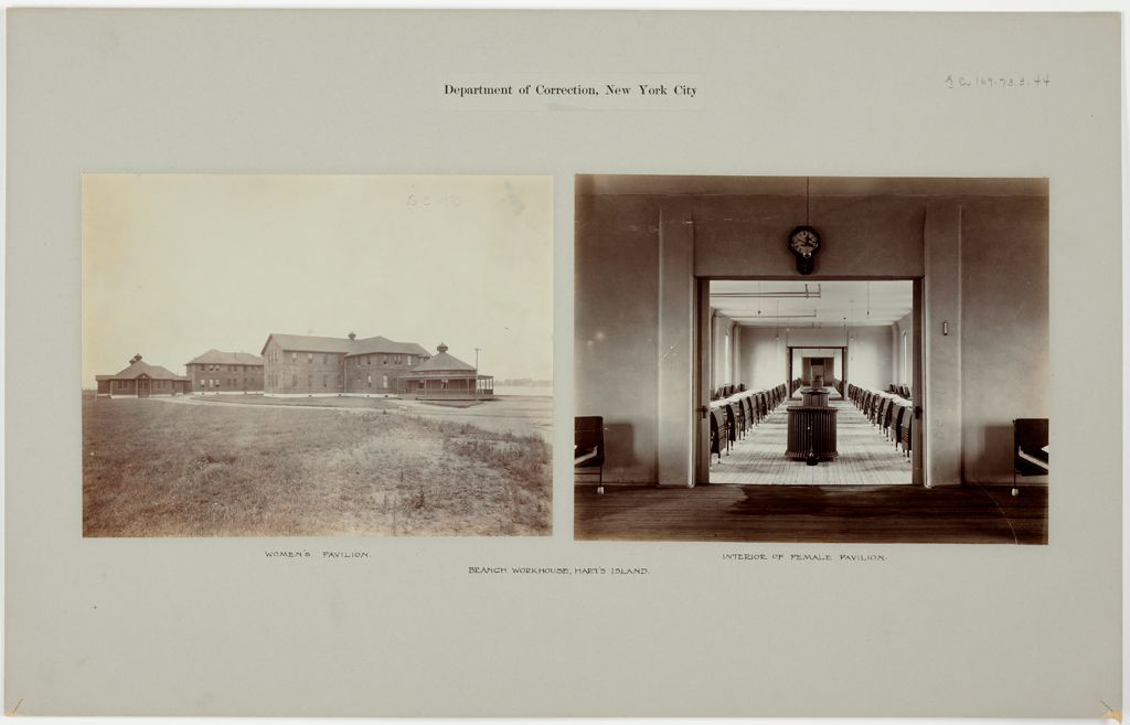 Crime, Prisons: United States. New York. Hart's Island. Branch Workhouse: Department Of Correction, New York City: Branch Workhouse, Hart's Island.