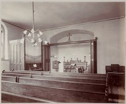 Crime, Prisons: United States. New York. New York City. The Tombs: Department of Correction, New York City: City Prison (The Tombs) Manhattan.: Chapel..   Social Museum Collection