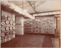 Crime, Prisons: United States. New York. New York City. The Tombs: Department of Correction, New York City: City Prison (The Tombs), Manhattan.: Switchboard..   Social Museum Collection
