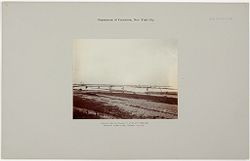 Crime, Prisons: United States. New York. Riker's Island. Branch Workhouse: Department of Correction, New York City: Lagoon Being Filled in the City Refuse. Branch Workhouse, Riker's Island..   Social Museum Collection