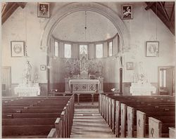Crime, Prisons: United States. New York. Hart's Island. Branch Workhouse: Department of Correction, New York City: Branch Workhouse, Hart's Island.: Catholic Chapel - Interior..   Social Museum Collection