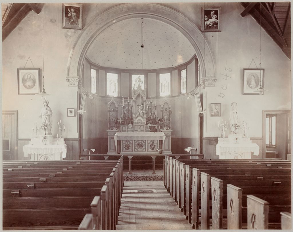 Crime, Prisons: United States. New York. Hart's Island. Branch Workhouse: Department Of Correction, New York City: Branch Workhouse, Hart's Island.: Catholic Chapel - Interior.