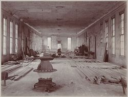 Crime, Prisons: United States. New York. Hart's Island. Branch Workhouse: Department of Correction, New York City: Branch Workhouse, Hart's Island.: Old Building - Interior..   Social Museum Collection