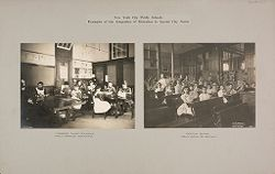 Education, Industrial: United States. New York. New York City. Vacation Schools: New York City Public Schools. Examples of the Adaptation of Education to Special City Needs.   Social Museum Collection