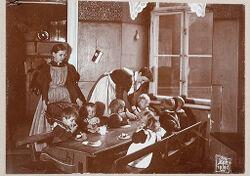 Education, General: Germany. Berlin. Volkskindergarten: Froebelhaus: Tea..   Social Museum Collection