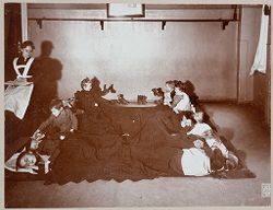 Education, General: Germany. Berlin. Volkskindergarten: Froebelhaus: The afternoon nap..   Social Museum Collection