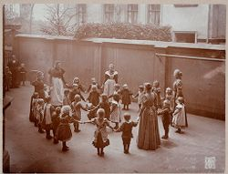 Education, General: Germany. Berlin. Volkskindergarten: Froebelhaus: At play..   Social Museum Collection