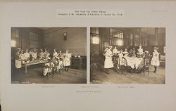 Education, Industrial: United States. New York. New York City. Vacation Schools: New York City Public Schools. Examples of the Adaptation of Education to Special City Needs: Vacation Schools. Public School No.32 Brooklyn..   Social Museum Collection