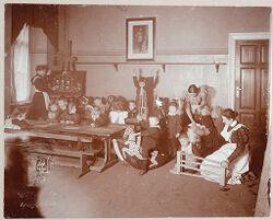 Education, General: Germany. Berlin. Volkskindergarten: Froebelhaus: Kindergarten..   Social Museum Collection