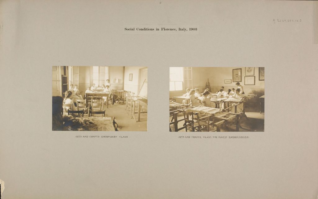 Education, Industrial: Italy. Florence. Arts And Crafts School: Social Conditions In Florence, Italy, 1903