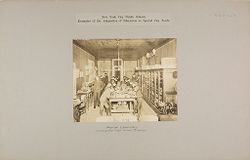 Education, Industrial: United States. New York. New York City. Public Schools, Adaptation to Special City Needs: New York City Public Schools. Examples of the Adaptation of Education to Special City Needs: Physical Laboratory. Commercial High School Brooklyn..   Social Museum Collection