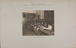 Education, Industrial: United States. New York. New York City. Public Schools, Adaptation to Special City Needs: New York City Public Schools. Examples of the Adaptation of Education to Special City Needs: Library. Public School 147. Manhattan..   Social Museum Collection