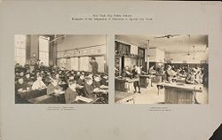 Education, Industrial: United States. New York. New York City. Public Schools, Adaptation to Special City Needs: New York City Public Schools. Examples of the Adaptation of Education to Special City Needs.   Social Museum Collection