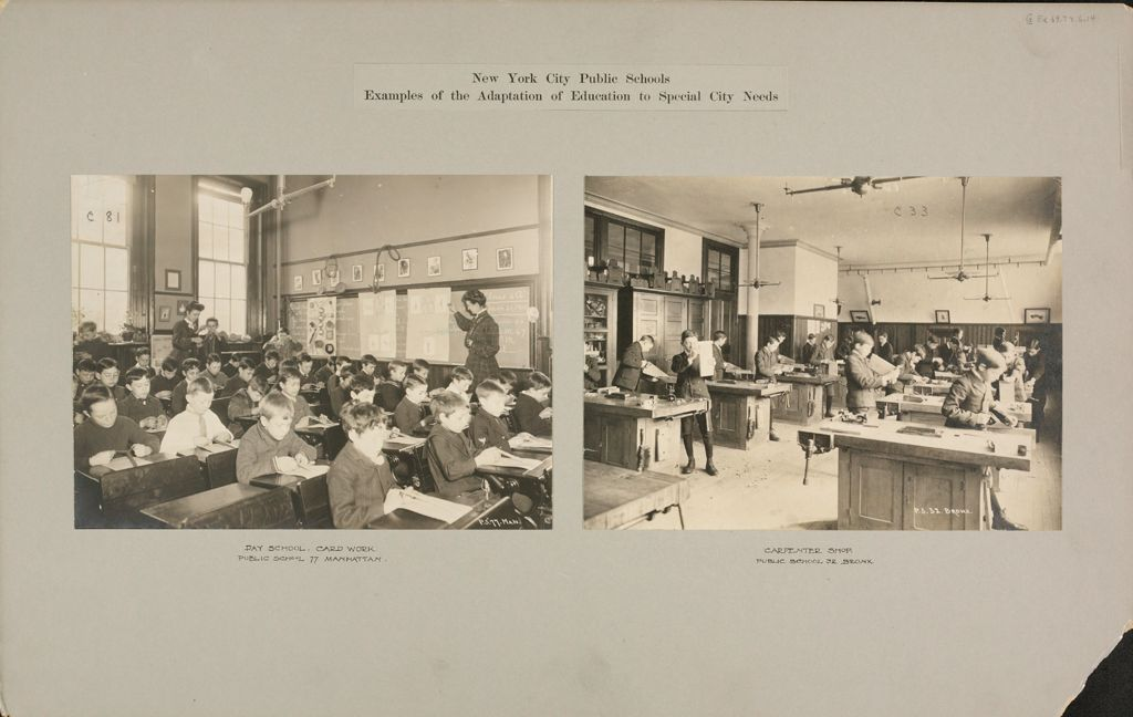 Education, Industrial: United States. New York. New York City. Public Schools, Adaptation To Special City Needs: New York City Public Schools. Examples Of The Adaptation Of Education To Special City Needs