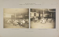 Education, Industrial: United States. New York. New York City. Public Schools, Adaptation to Special City Needs: New York City Public Schools. Examples of the Adaptation of Education to Special City Needs: Evening Play Centre.: Public School No.42 Manhattan..   Social Museum Collection