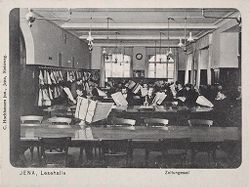 Education, Popular Culture: Germany. Jena: Carl Zeiss Stiftung: Social Conditions in German Cities: 1905: Jena, Lesehalle, Zeitungssaal.   Social Museum Collection