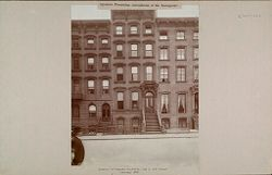 Education, Popular Culture: United States. New York. New York City. People's Institute: Agencies Promoting Assimilation of the Immigrant: Exterior of People's Institute, 318 E. 15th Street. January 1905.   Social Museum Collection