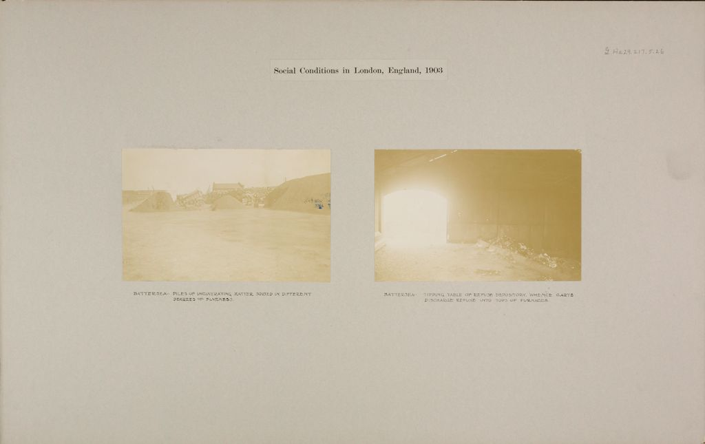 Health, General: Great Britain, England. London. Battersea: Refuse Depository: Social Conditions In London, England, 1903