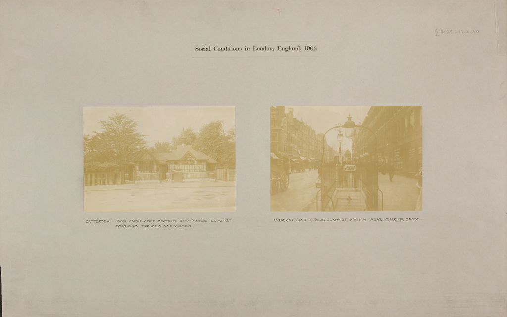 Health, General: Great Britain, England. London. Public Comfort Station: Social Conditions In London, England, 1903
