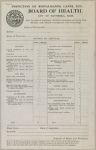 Health, General: United States. Massachusetts. Haverhill: Schedules used by Local Boards of Health: Inspection of Restaurants, Cafes, Etc.