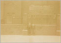 Health, Baths: Great Britain, England. London: Lambeth Baths: Social Conditions in London, England, 1903: List of Prices at the Lambeth Baths..   Social Museum Collection