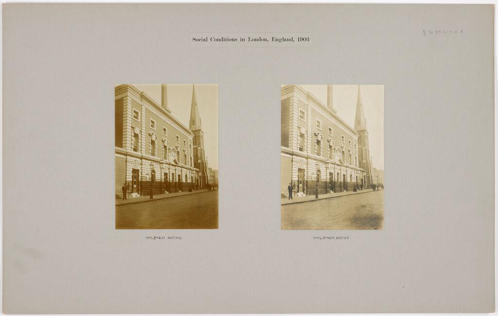 Health, Baths: Great Britain, England. London: Holborn Baths: Social Conditions In London, England, 1903: Holborn Baths