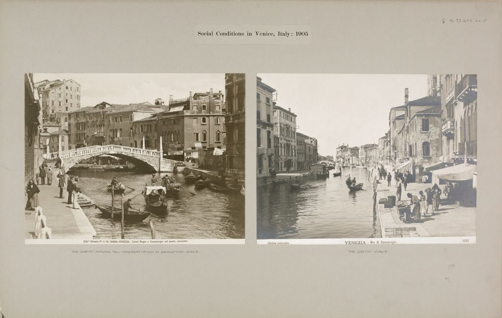 Housing, Conditions: Italy. Venice. Slums: Social Conditions In Venice, Italy: 1905