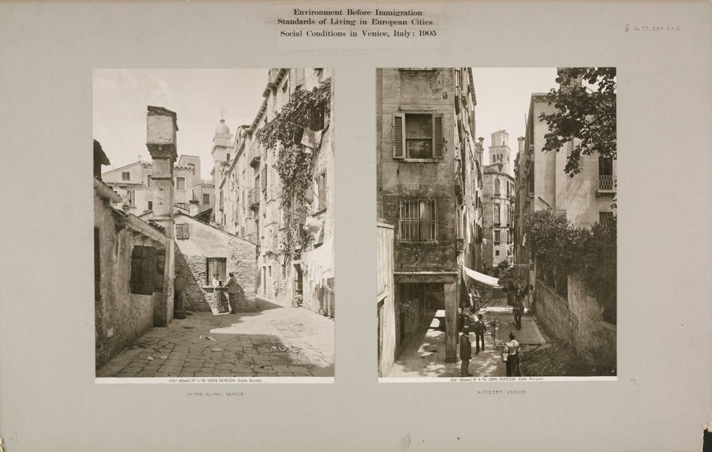 Housing, Conditions: Italy. Venice. Slums: Environment Before Immigration. Standards Of Living In European Cities. Social Conditions In Venice, Italy: 1905