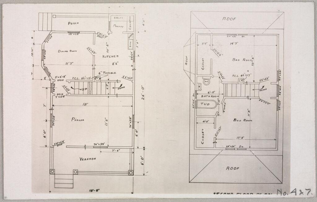 Housing, Improved: United States. Massachusetts. East Walpole. Neponset Garden Village