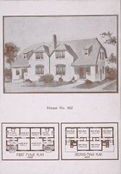 Housing, Industrial: United States. Ohio. Goodyear Heights: Industrial Housing, Cottages: Goodyear Tire and Rubber Company: Houses erected at Goodyear Heights to be sold to employees of the Goodyear Tire and Rubber Company, 1913-1915.: House No. 462.   Social Museum Collection