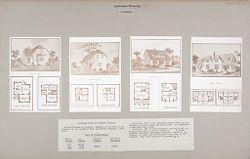 Housing, Industrial: United States. Ohio. Goodyear Heights: Industrial Housing, Cottages: Goodyear Tire and Rubber Company: Houses erected at Goodyear Heights to be sold to employees of the Goodyear Tire and Rubber Company, 1913-1915..   Social Museum Collection