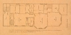 Housing, Industrial: United States. New York. Schenectady: Methods of Cheap Construction of Dwellings: Two-flat Houses: Second Floor.   Social Museum Collection