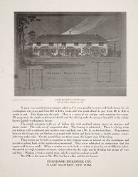 Housing, Industrial: United States. New York. New York City: Row Dwellings: Standard Buildings, Inc.: Workingmen's Cottages Group of Six - Design No. 371: Standard Buildings, Inc. 70 East 45th Street, New York.   Social Museum Collection
