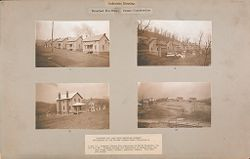 Housing, Industrial: United States. Pennsylvania: Industrial Housing, Detached Dwellings Frame Construction: Bessemer and Lake Erie Railroad Company: Subsidiary of the United States Steel Corporation.   Social Museum Collection