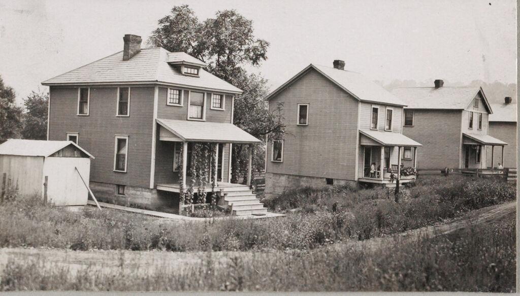 Housing, Industrial: United States. Pennsylvania. Atlasburg: Industrial Housing In Mining Towns: Detached Dwellings Of Frame Construction: Atlas Coal Company Atlasburg, Pa.