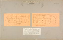 Housing, Industrial: United States. New York. Schenectady: Methods of Cheap Construction of Dwellings: Two-flat Houses.   Social Museum Collection