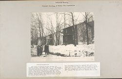 Housing, Industrial: United States. Pennsylvania. Lansford: Industrial Housing, Detached Dwellings of Hollow Tile Construction: Standard Buildings Inc. House #383, Front view - Mann & MacNeille, Architects. Lansford, PA..   Social Museum Collection