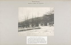 Housing, Industrial: United States. Pennsylvania. Lansford: Industrial Housing, Bungalows of Hollow Tile Construction: Standard Buildings Inc. Bungalow #384, Rear view - Mann & MacNeille, Architects. Lansford, PA..   Social Museum Collection