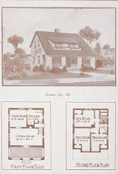 Housing, Industrial: United States. Ohio. Goodyear Heights: Industrial Housing, Cottages: Goodyear Tire and Rubber Company: Houses erected at Goodyear Heights to be sold to employees of the Goodyear Tire and Rubber Company, 1913-1915.: House No. 381.   Social Museum Collection