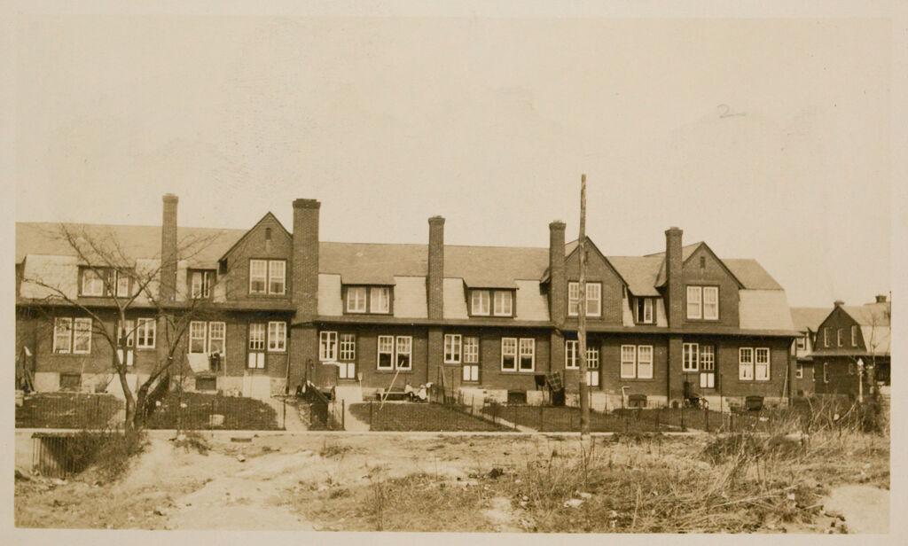 Industrial Problems, Welfare Work: United States. Pennsylvania. Marcus Hook: Industrial Housing. Row Dwellings. Brick Construction: Marcus Hook, Pennsylvania