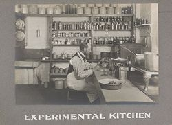 Industrial Problems, Welfare Work: United States. Pennsylvania. Philadelphia. H. J. Heinz Company: Experimental Kitchen.   Social Museum Collection