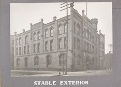 Industrial Problems, Welfare Work: United States. Pennsylvania. Philadelphia. H. J. Heinz Company: Stable Exterior.   Social Museum Collection