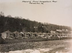 Industrial Problems, Welfare Work: United States. Pennsylvania. Palmerton: New Jersey Zinc Company. Bungalows of Frame Construction: Hazard Road Bungalows. Rear. Palmerton Pa..   Social Museum Collection
