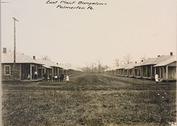 Industrial Problems, Welfare Work: United States. Pennsylvania. Palmerton: New Jersey Zinc Company. Bungalows of Frame Construction: East Plant Bungalows. Palmerton Pa..   Social Museum Collection