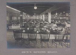 Industrial Problems, Welfare Work: United States. Pennsylvania. Philadelphia. H. J. Heinz Company: Men's Dining Room.   Social Museum Collection