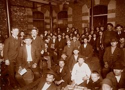 Races, Immigration: United States. New York. New York City. Immigrant Station: Regulation of Immigration at the Port of Entry. United States Immigrant Station, New York City: New York detained; awaiting arrival of friends..   Social Museum Collection