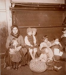Races, Immigration: United States. New York. New York City. Immigrant Station: Regulation of Immigration at the Port of Entry. United States Immigrant Station, New York City: To Be Deported..   Social Museum Collection